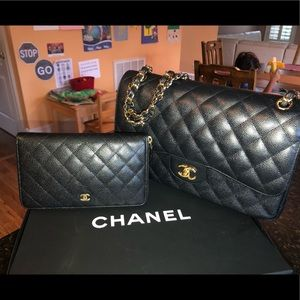 Chanel bag with matching wallet